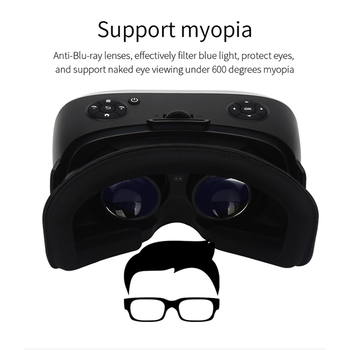 Sovawin All In One VR Hdmi Headset 2K HD Wifi 3D Smart Glasses Virtual Reality Immersive Goggle Cardboard VR Helmet 5.5' Display 5