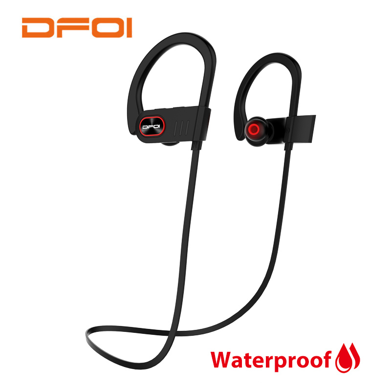 DFOI Waterproof Headphones Wireless Bluetooth Sport Headphone IPX4 Wireless Earphones With Microphone Earphone For Iphone xiaomi computer earphones with microphone wireless bluetooth foldable headset stereo headphone earphone for iphone headphones tw