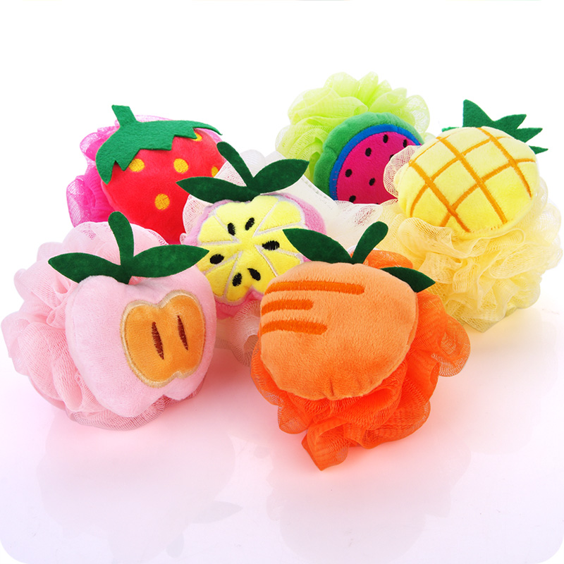 1pc Colorful Fruit Shape Bath Ball Bath Flower Bath Rub Lovely Bath Toiletries