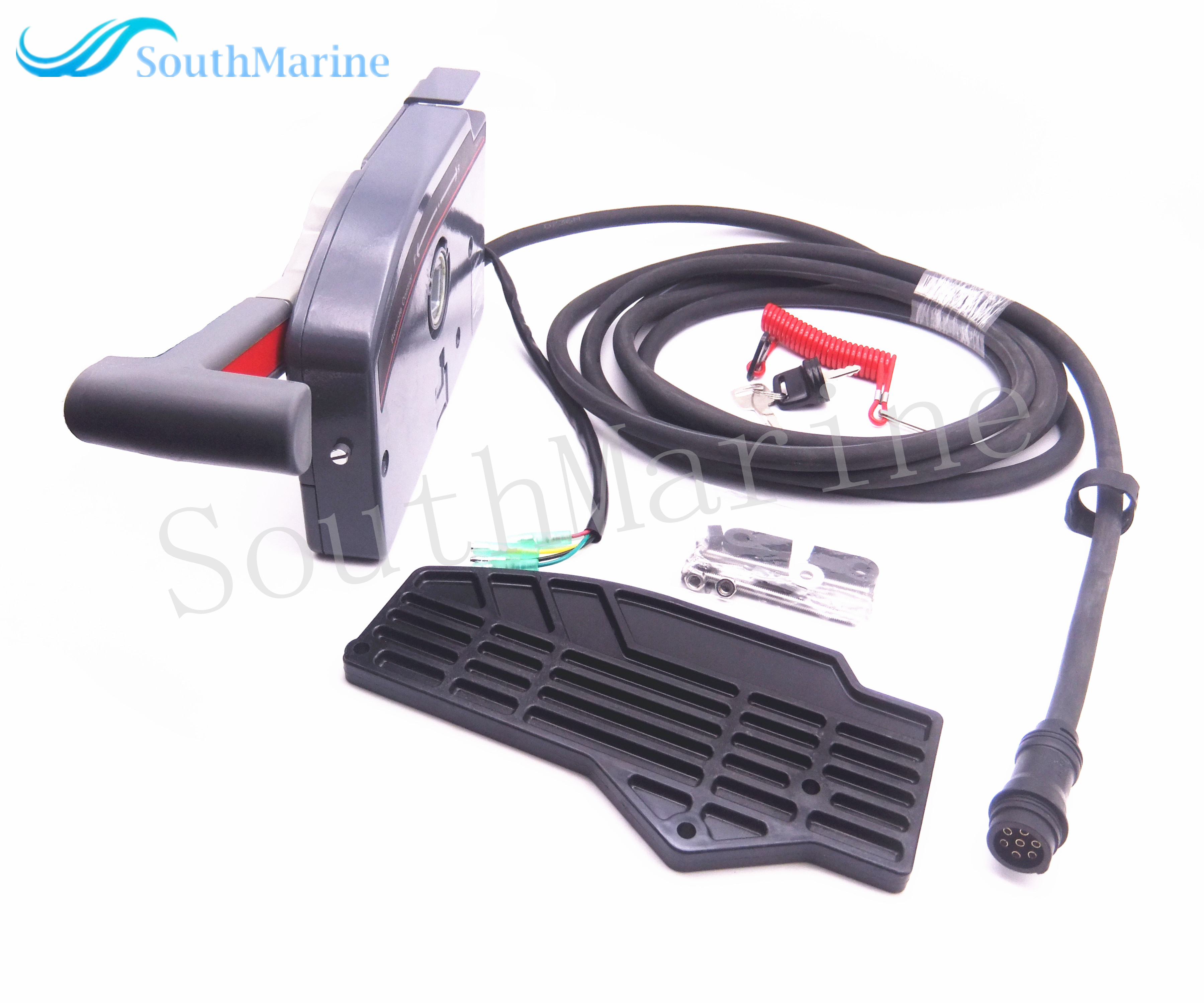 Outboard Engine Remote Control Box Assy 703-48230-14 703-48203-15 703-48203-17 For Yamaha Boat Motor,7 Pins Left Side Push