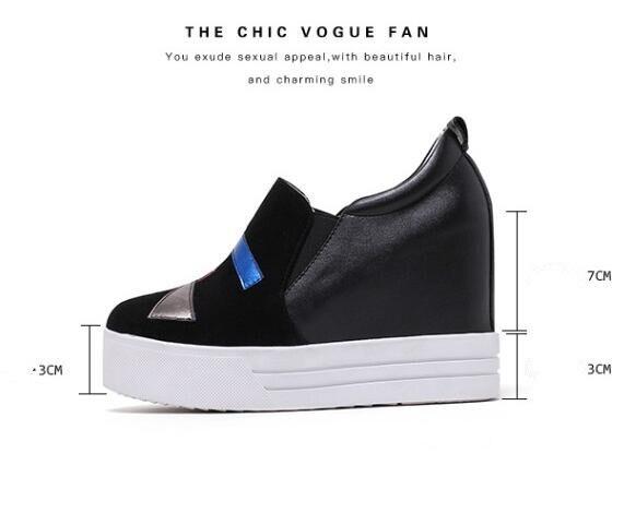 Mujer en Vaca La Plataforma {zorssar} Gamuza 40 2018 Tamaño gris Gráfico Moda Altos 31 Negro Interna El Casual Bombas Nueva Tacones De Zapatos Slip Aumento xtWtYwqpv