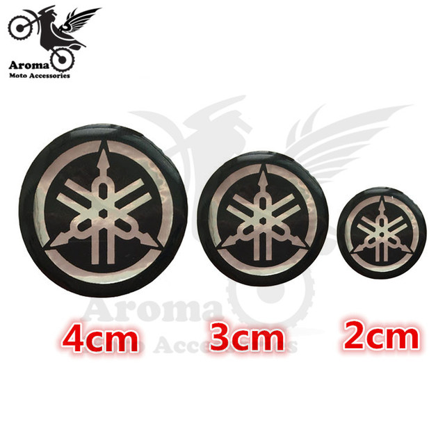 Round soft rubber gel motorcycle sticker for yamaha logo badge emblem 3d motorbike decal car style