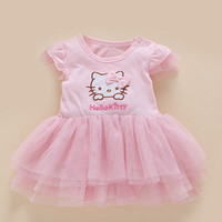 Baby Girls Clothes Hello Kitty Dress For Girls Christmas Dress Princess Party Clothes Children Hello Kitty