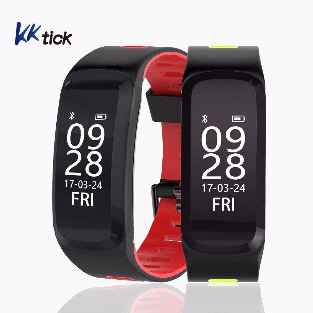 KKtick F4 Sports Smart Bracelet Heart Rate Monitor Fitness Tracker Message Call Reminder IP68 Waterproof Smart Wristband