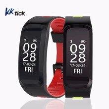 KKtick F4 Esportes Pulseira Inteligente Heart Rate Monitor de Fitness Rastreador Mensagem Call Reminder IP68 Inteligente Pulseira À Prova D' Água