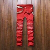 Fashion Skinny Slim Middle Waist Ripped Jeans Stretch Pants Women Pantalon Jean Femme Pencil Trousers Taille