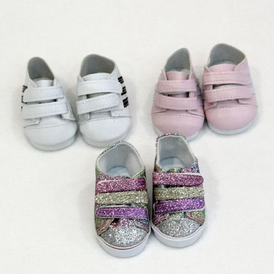 1 Pair Pink Leather Doll Shoes for 18 inch  Dolls 43Cm  BabYJUS