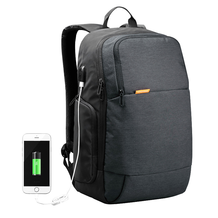 30PCS/LOT External USB Charge Backpack Anti-theft Male Mochila Laptop Backpack School Bags Backpack for Teens