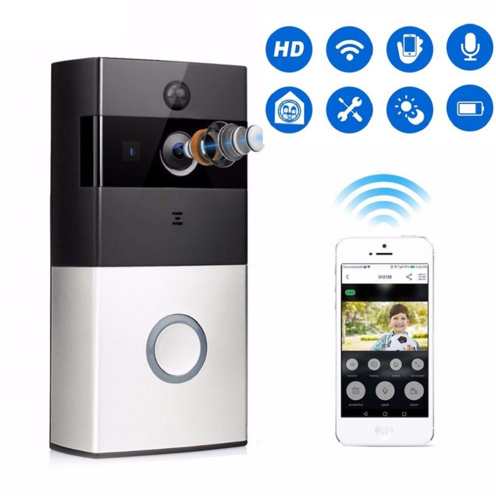 Wireless WiFi Video Doorbell Phone 1080P HD Camera Doorphone Remote PIR Motion Home Alarm System Video Intercom Door bellWireless WiFi Video Doorbell Phone 1080P HD Camera Doorphone Remote PIR Motion Home Alarm System Video Intercom Door bell