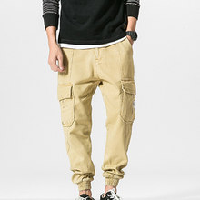 f8f506225c3c Männer Vintage Baumwolle kreuzhosen Männlichen Cargo Pants Jogginghose Top  Qualität Hosen Männer Lose Street Männlichen Mode