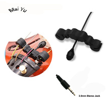 Professional Instrument Microphone Fiddle Violin Microfone Condenser Viola Music Record Mic for Amplifier Transmitter 3.5 Stereo g m cambini symphonie concertante no 2 for flute violin and viola