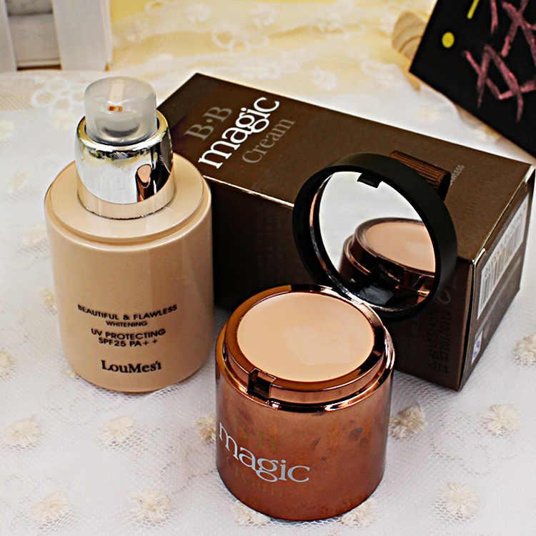 BB cream + concealer jelas sempurna botol dari 60g ganda dual naked makeup isolasi dasar krim spf 25 pa + + SBF002