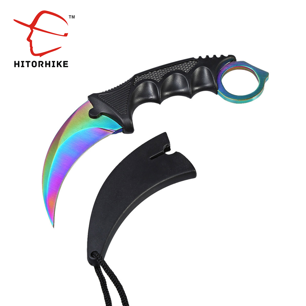 HITORHIKE Handmade Hunting Karambit Knife CS GO Counter Strike Fighting Survival Tactical Knife Claw Camping knives Tools