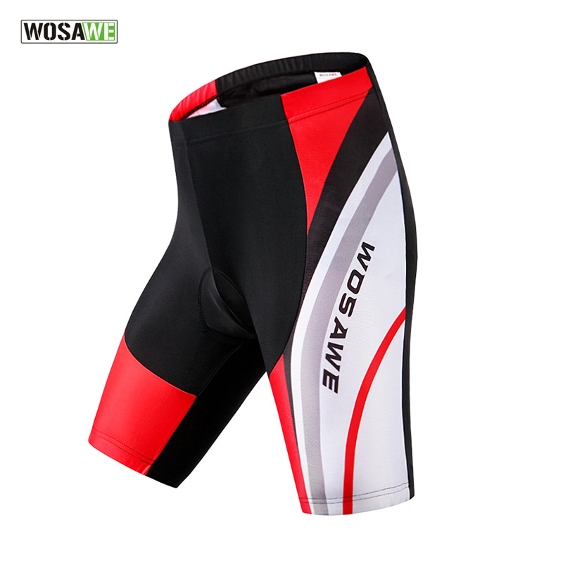 WOSAWE Summer Men Cycling Shorts 4D Gel Padded Bike Bicycle Shorts Outdoor Sports Breathable Quick-Dry MTB Road Bike Sportswear