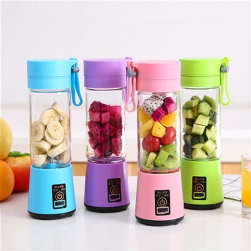 Portable Blender USB Fruit Mixer Mini Juicer Cup Juice Machine Smoothie Maker Blenders Household Small Juice Extractor Baby Food Manual Juicers     - title=