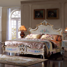 2017 New design french country luxury bedroom furniture – antique furniture bedroom queen size bed