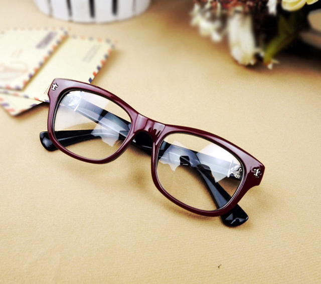 Famous Brand Glasses Frame Wine Red Black Brown Leopard Beige 4 Colors Available Fashion Optical Glasses Frame