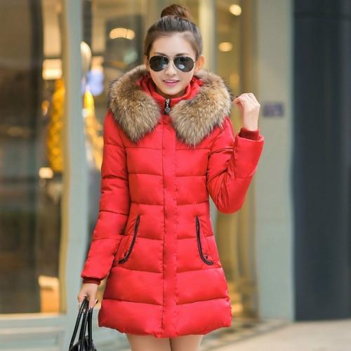 2015 Novo Casaco de Inverno Mulheres Jaqueta de Pato Para Baixo Gola Redonda Moda Espessamento Fino Zipper Mulheres Jaqueta & Parkas Quente