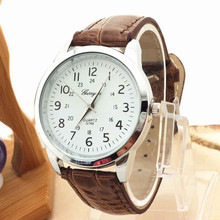 Timezone#501 Elegant Analog Luxury Sports Leather Strap Quartz Mens Wrist Watch Casual Sport Wristwatch Relogio(China)