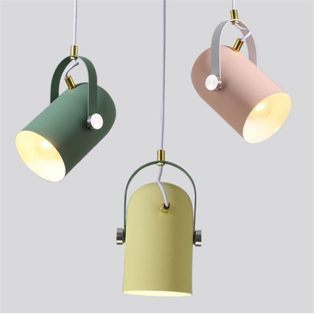 Us 28 8 10 Off Modern Pendant Light Europe Colorful Macarons Indoor Lamp Led Indoor Lighting Restaurant Bar Decorative Light Fixture Ac110 265v In