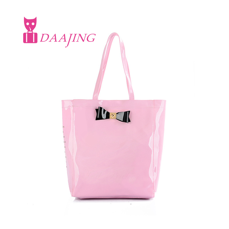 2016 New font b handbag b font butterfly shopping bag lovely pvc waterproof ted bag colorful