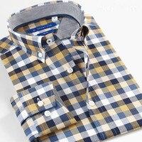 Smart Five Men S Shirts Casual Long Sleeve Cotton Plaid Shirts Long Sleve Slim Fit Brand