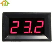 DC12V LED Rojo Digital Medidor de Temperatura 0 ~ 999 Grados Celsius Termómetro con Sonda de Termopar