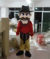 Последние высокого качества капитан пират Карибского моря с коричневый борода Маскоты костюм праздник специальной одежды