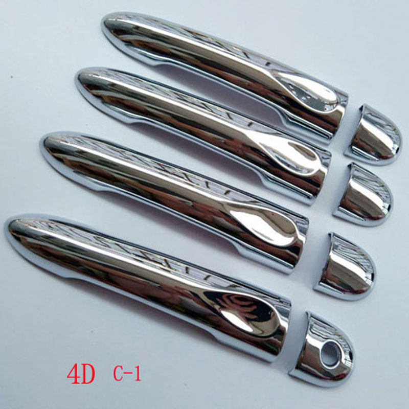Free Shipping For LADA XRAY 2015 2016 2018 chrome Door handle catch cover Trim cap auto accessories