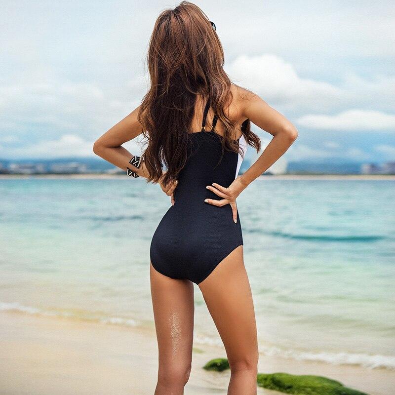Высокое качество 2019 новый сексуальный лоскутное одеяло купальник пуш ап Sandy пляжный купальник Slim fit женские купальные костюмы - 5