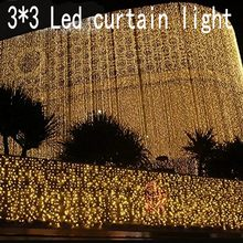 300 leds christmas Window decoration 3m Droop 3m curtain string led lights 220V New year Garden home Xmas Party Wedding holiday(China)