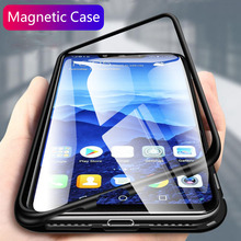 Magnet Cover for Huawei Mate 20 Pro X Case Glass Metal Magnetic Clear Funda Coque Capa