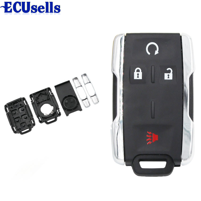 10pcs 4 Buttons Remote Key Case Shell Fob For  GMC Chevrolet Cadillac Buick