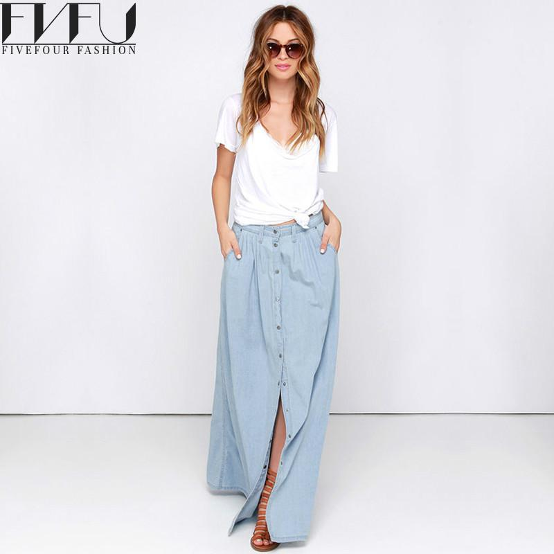 Compare Prices on Maxi Denim Skirt- Online Shopping/Buy Low Price ...
