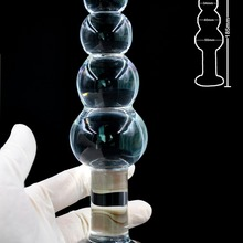Large Pyrex Glass Anal Beads big balls crystal dildo penis butt plug artificial