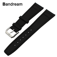 Canvas Nylon Genuine Leather Watchband 22mm For Moto 360 2 46mm Men Xiaomi Amazfit Ticwatch 1