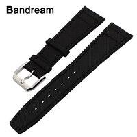 Canvas Nylon Genuine Leather Watchband 22mm For Moto 360 2 46mm Men Xiaomi Amazfit Ticwatch 1