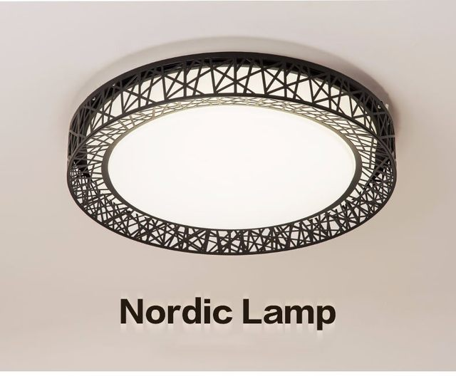 Plafoniere Led Moderne : Online shop vogelnest deckenleuchte lamparas de techo plafoniere