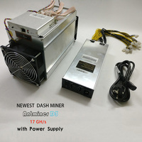 DASH MINER ANTMINER D3 17GH S 1200W On Wall Dash Mining Machine With Power Supply BITMAIN
