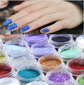 1PCS New 24 Colors Metal Shiny Glitter Nail polvere Nail Art glitter voor nagels poudre dust Powder Acrylic Decoration Tips