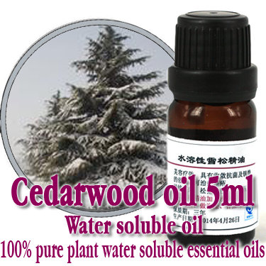 Free shopping 100% pure plant water soluble essential oils Cedarwood oil 5ml Aromatherapy bath dedicated
