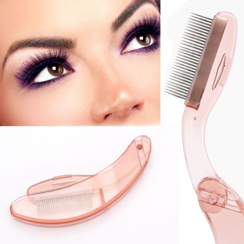 New Eyelash Extension Tool Foldable Eyelash Comb Make Up Brushes Tools Women Eyebrow Eyelash Comb M03276 2016 new arrival black dual purpose eyelash assist device extension beauty supplies brow brush lash comb makeup brushes tools