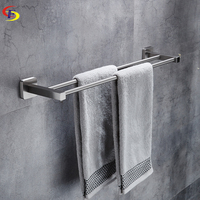 Anju Wall Mounted 304 Stainless Steel Brushed Double Towel Bars Towel Racks Towel Holder Bathroom Products