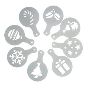 Cake-Stencil Template Decoration Cookie-Mould Cupcake Christmas-Tree Wedding 8pcs Wholesale