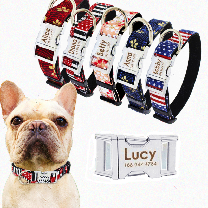 Dogs Collars Customized Pet Dog Tag Collar Custom Puppy Cat Personalized Nameplate ID Collars For Dogs Engraved Tag Name Phone3