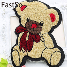 The Cartoon Bear Large Cloth Wool Jacket Patch Clothes Back Baby Sweater Applique Decorative