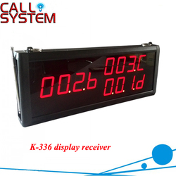 K-336 Restaurant Coffee Bar Wireless Call Calling System Waiter Service Paging System LED Display Receiver, 433Mhz