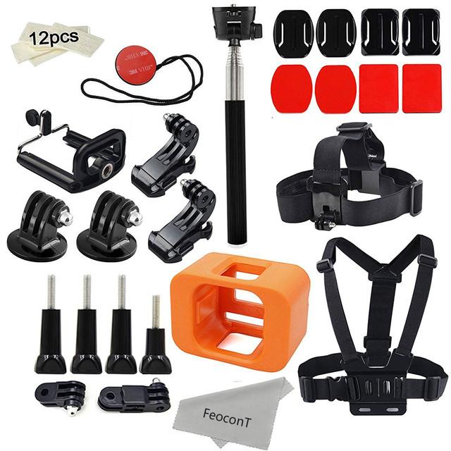 Accesorios para gopro hero 5 sesión/mounts hero sesiones haz cámara gopro floaty pecho arnés de cabeza correa monopie stick kit
