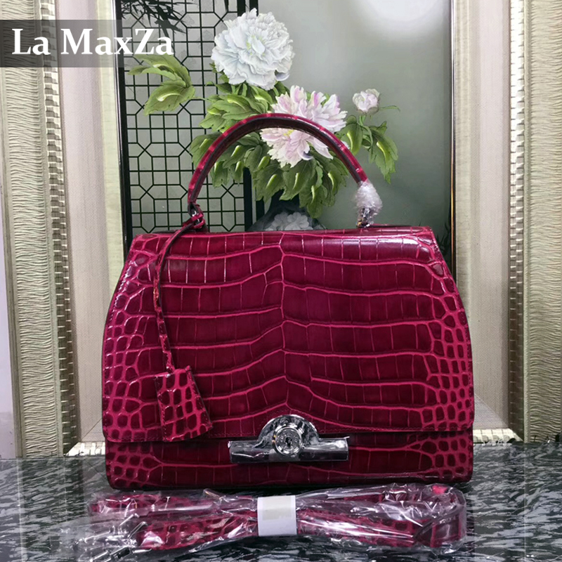 2017 women s luxury crocodile font b leather b font font b handbag b font