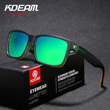 KDEAM 2019 New Sport Sunglasses Polarized Men Square Sun Glasses Outdoor Women Brand design 2018 Summer UV400 With Original Case